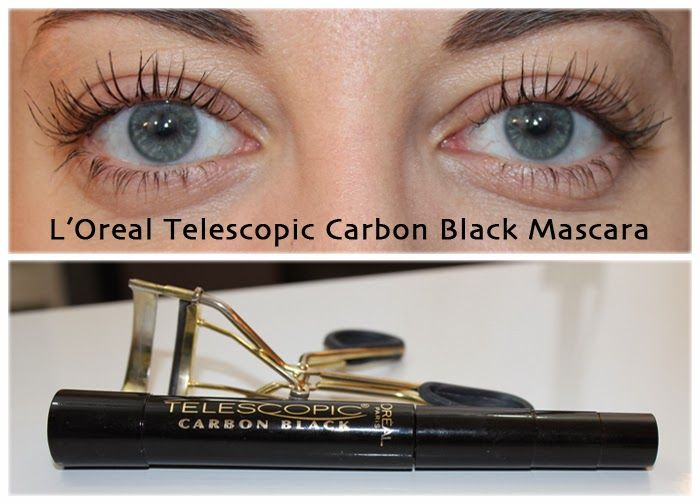 5c38e568245 Super long eyelashes using L'Oreal Telescopic Carbon Black Mascara ...