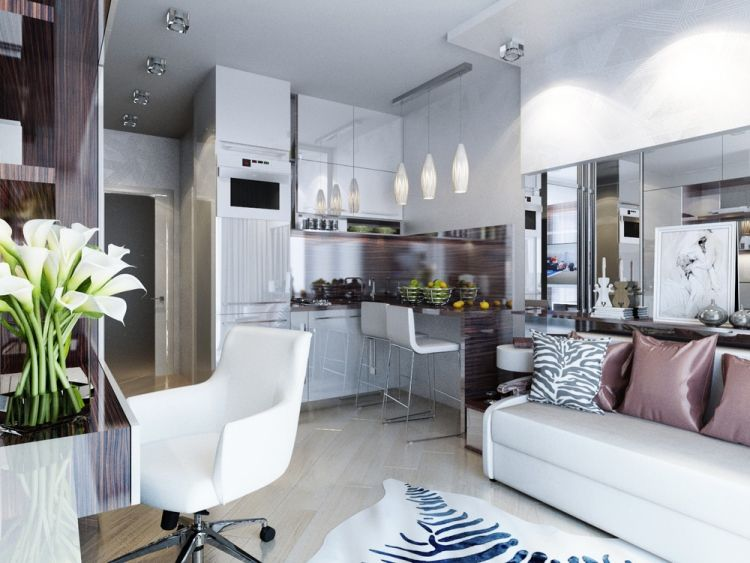 wei e reflektierende oberfl chen und spiegel im kleinen raum inspiration pinterest kleine. Black Bedroom Furniture Sets. Home Design Ideas