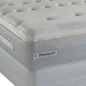 Queen Sealy Posturepedic Beresan Firm Euro Pillow Top Mattress By