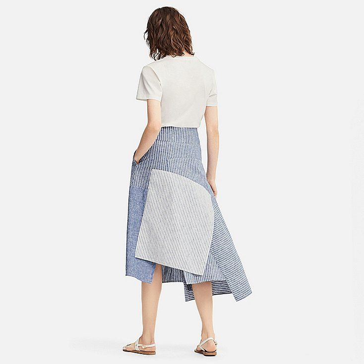 55aceef30e WOMEN J.W.ANDERSON LINEN COTTON LONG FLARE SKIRT