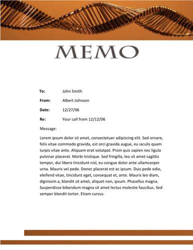 chemical themed memo