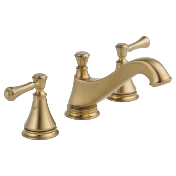 Two Handle Widespread Bathroom Faucet Low Arc Spout Less