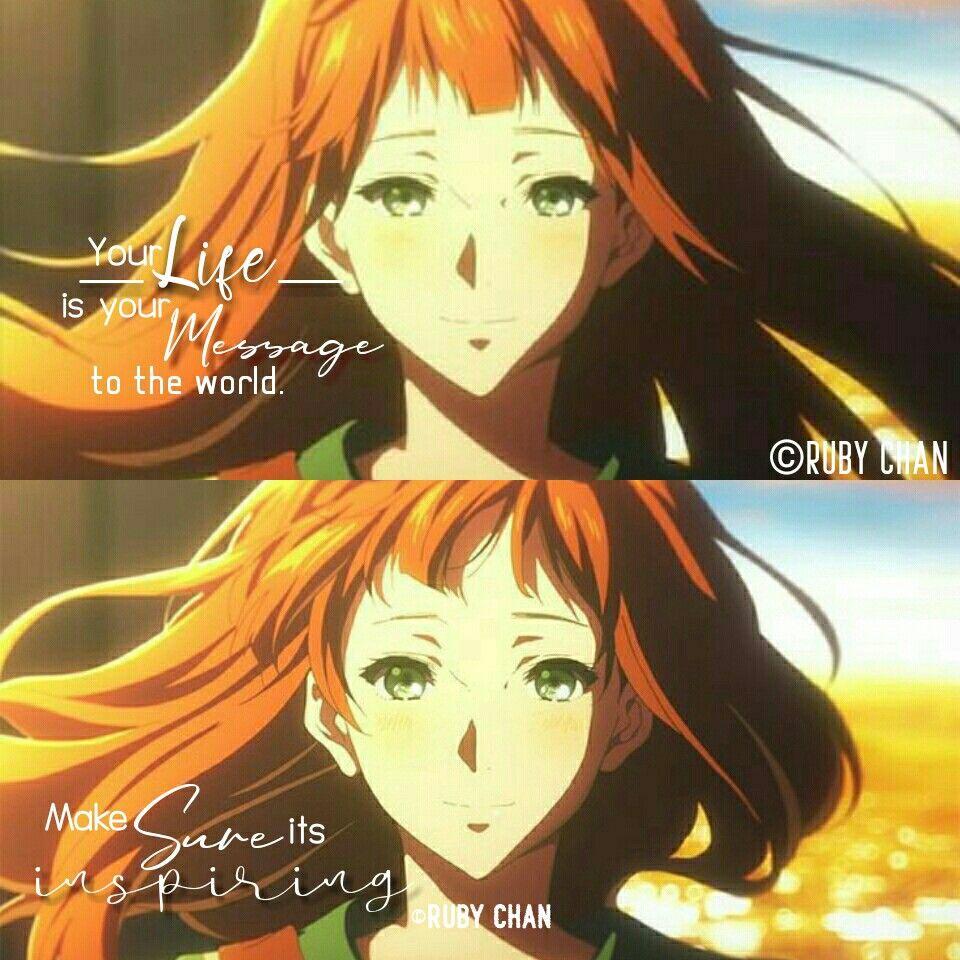 Anime Quotes Anime Violet Evergarden Follow Me Anime