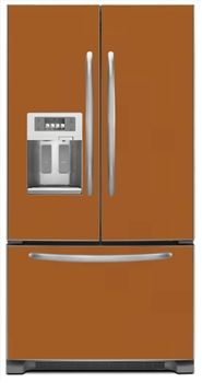 Copper Magnetic French Door Refrigerator Covers | Copper Magnet Skins,  Covers And Panels Are BIG Magnetic Sheets That Cover Fridge Appliances |  SALES ...
