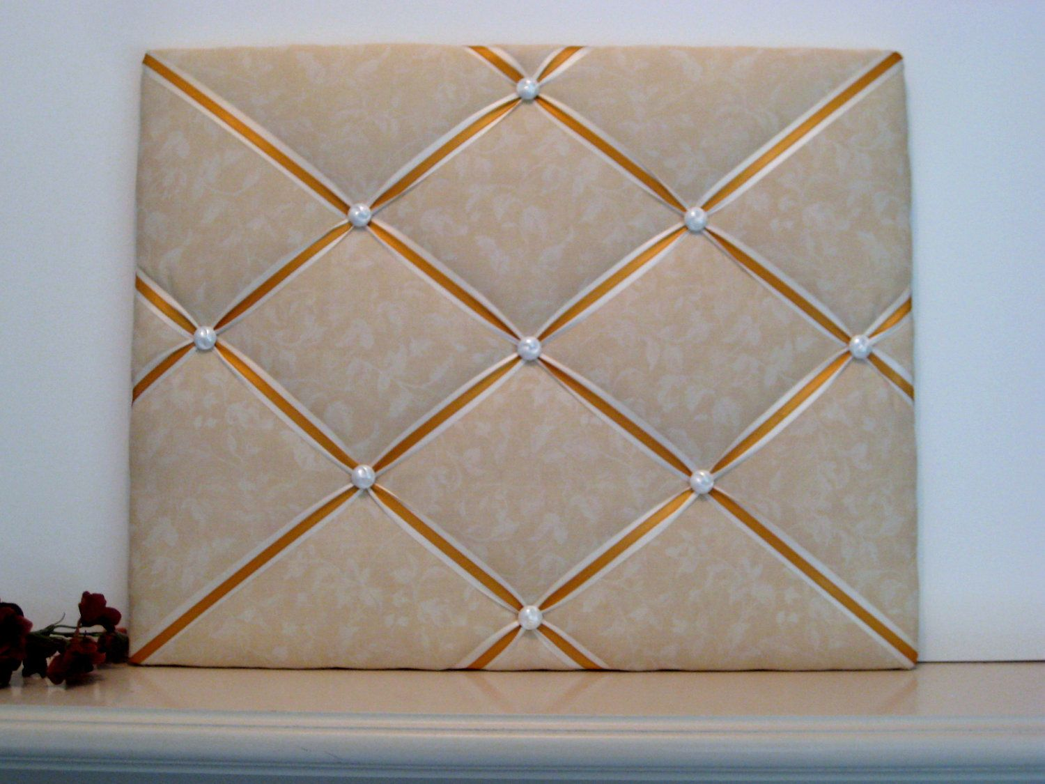 French Memo Board, Romantic, Cottage Chic Memory Board Made to order Wedding Decor. $44.50, via Etsy.