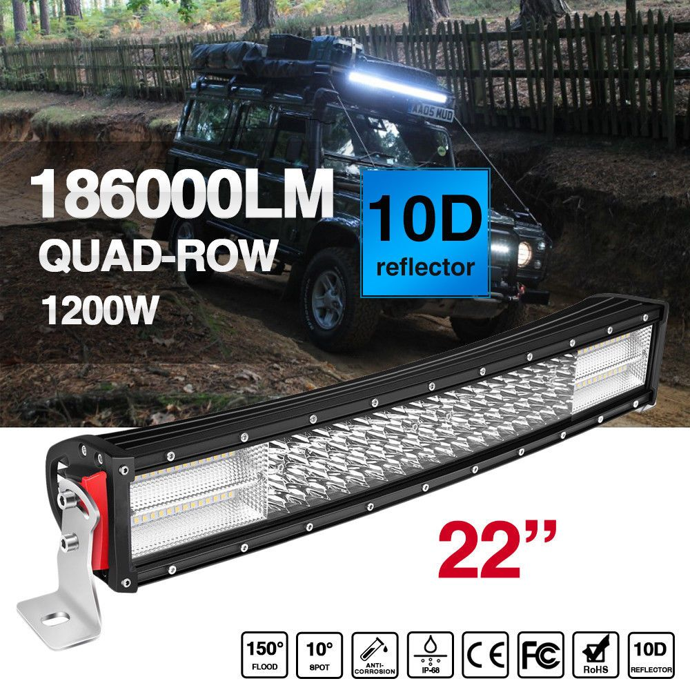 Led Light Bar 22inch Curved 4x4 4wd Offroad Light Bar Work Pods Pk 20 32 42 52 Ebay Bar Lighting Cree Led Light Bar Curved Led Light Bar