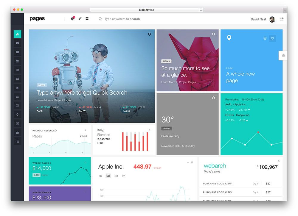 20 Best Bootstrap Admin Templates For Web Apps 2016 Colorlib Material Design Page Design Web App