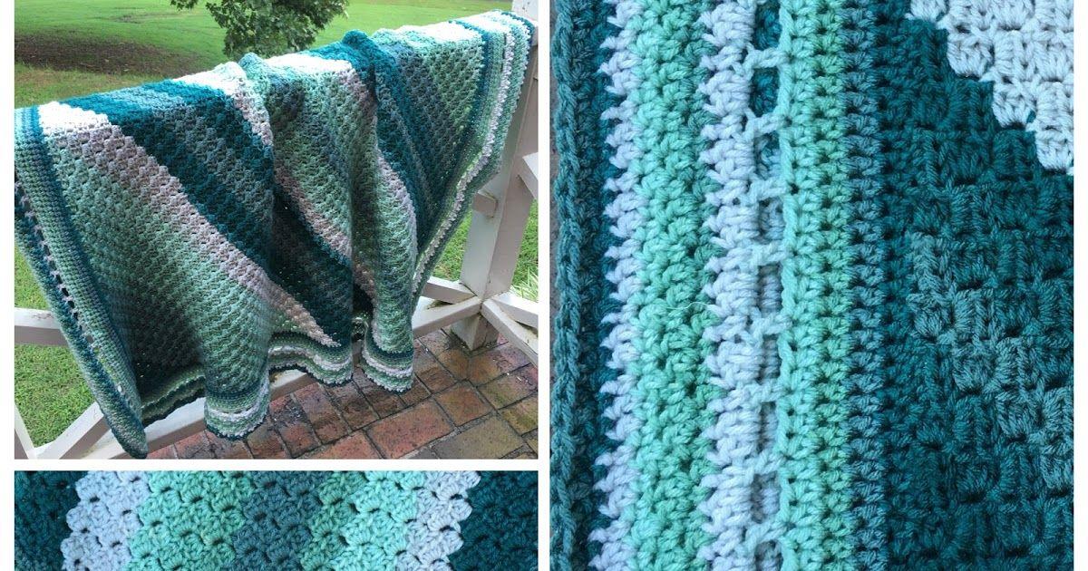 Forestry c2c blanket yarn bee blanket crochet