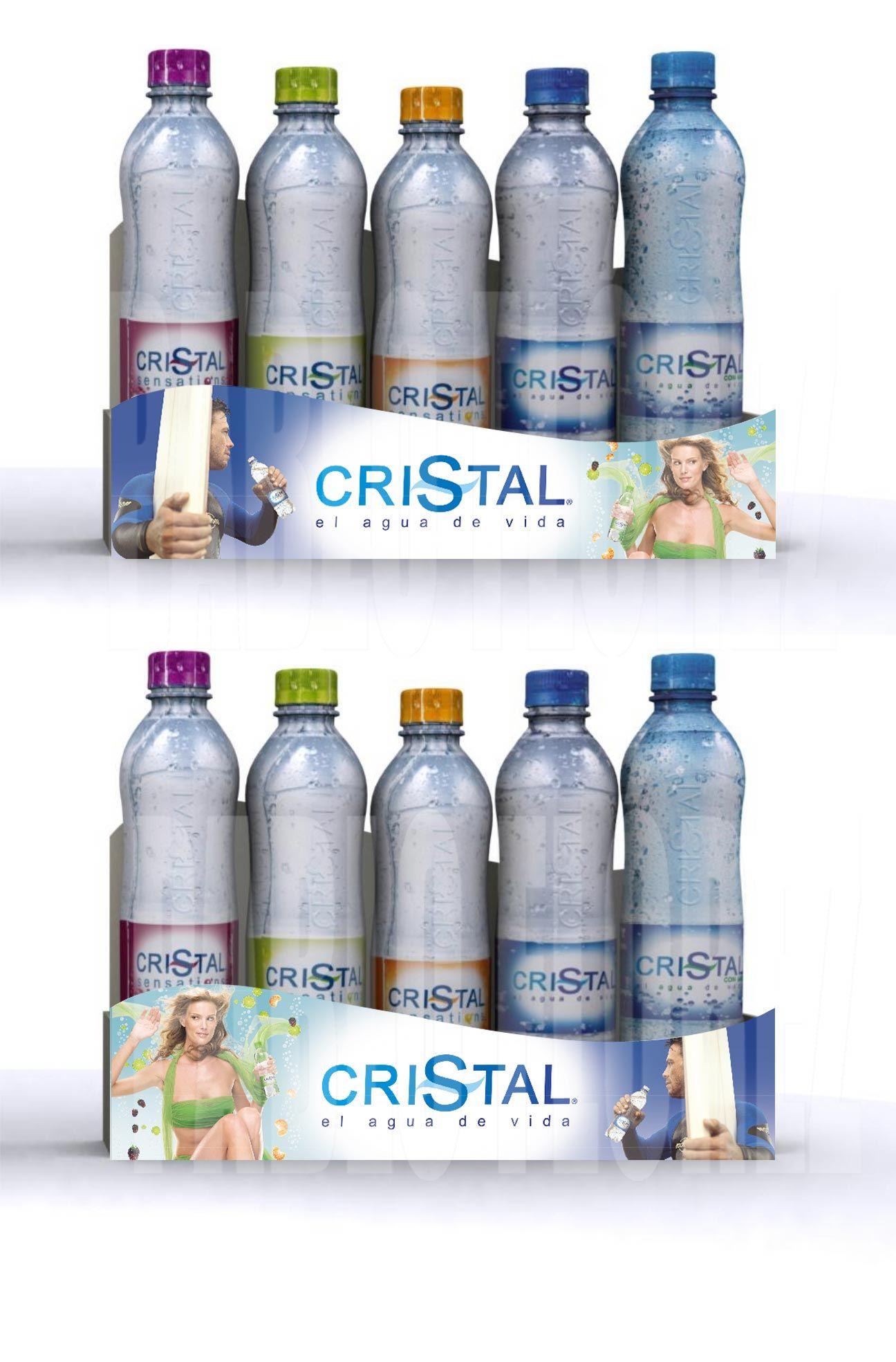 Merchandising Material P O P Marca Agua Cristal Saborizada
