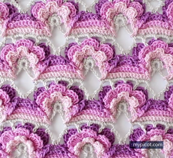 MyPicot | Free crochet patterns | flower stitch