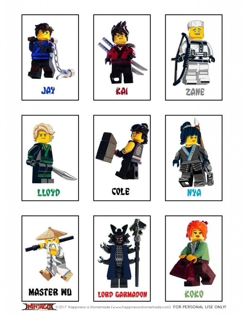 Printable LEGO NINJAGO Games - Memory & Shadow Match