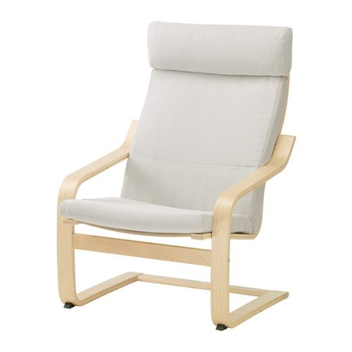 IKEA   POÄNG, Chair Cushion, Finnsta White, , The Cover Is Easy To Keep  Clean As It Is Removable And Can Be Machine Washed.