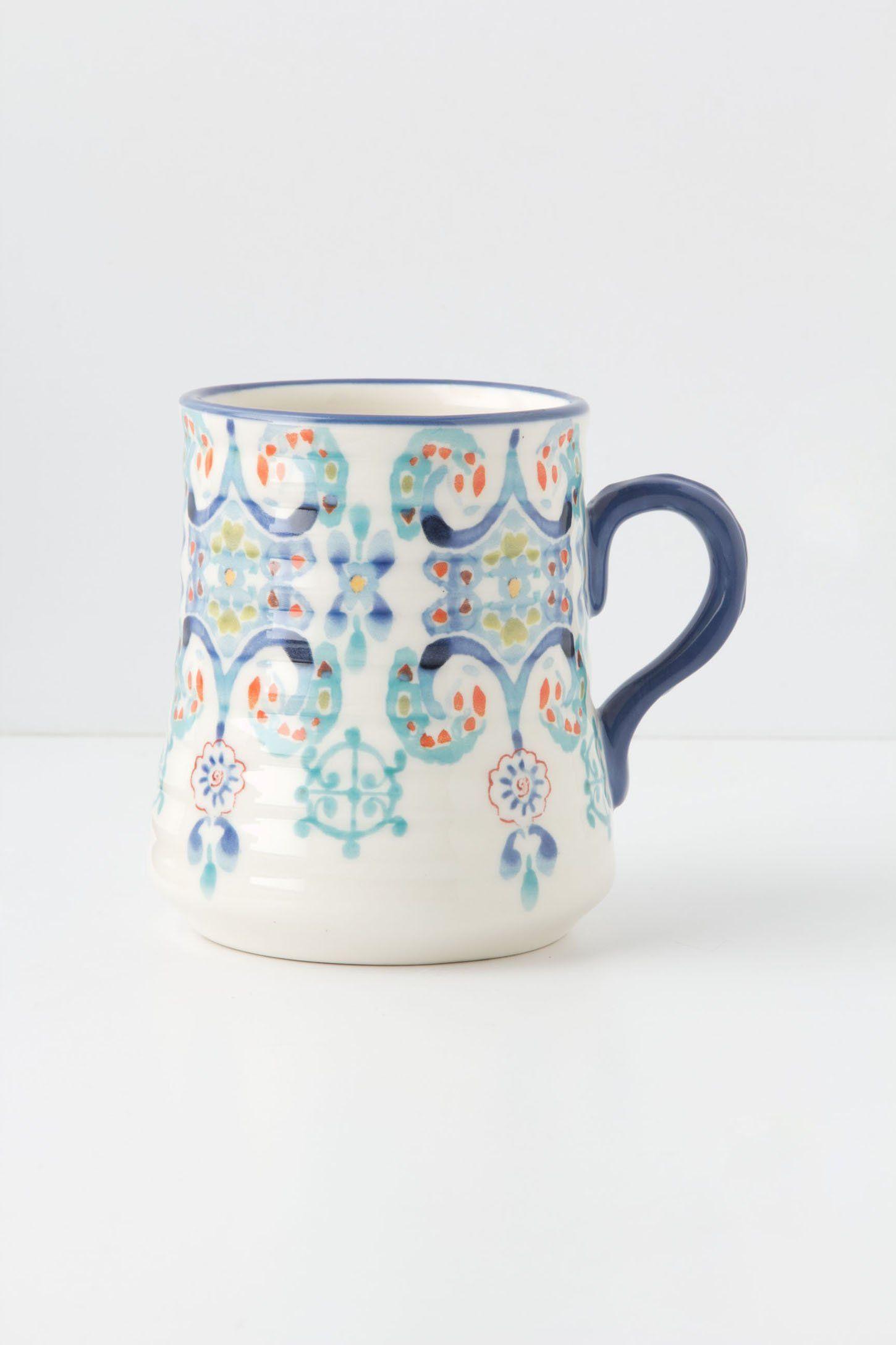 Swirled Symmetry Mug Anthropologie mugs, Cute coffee