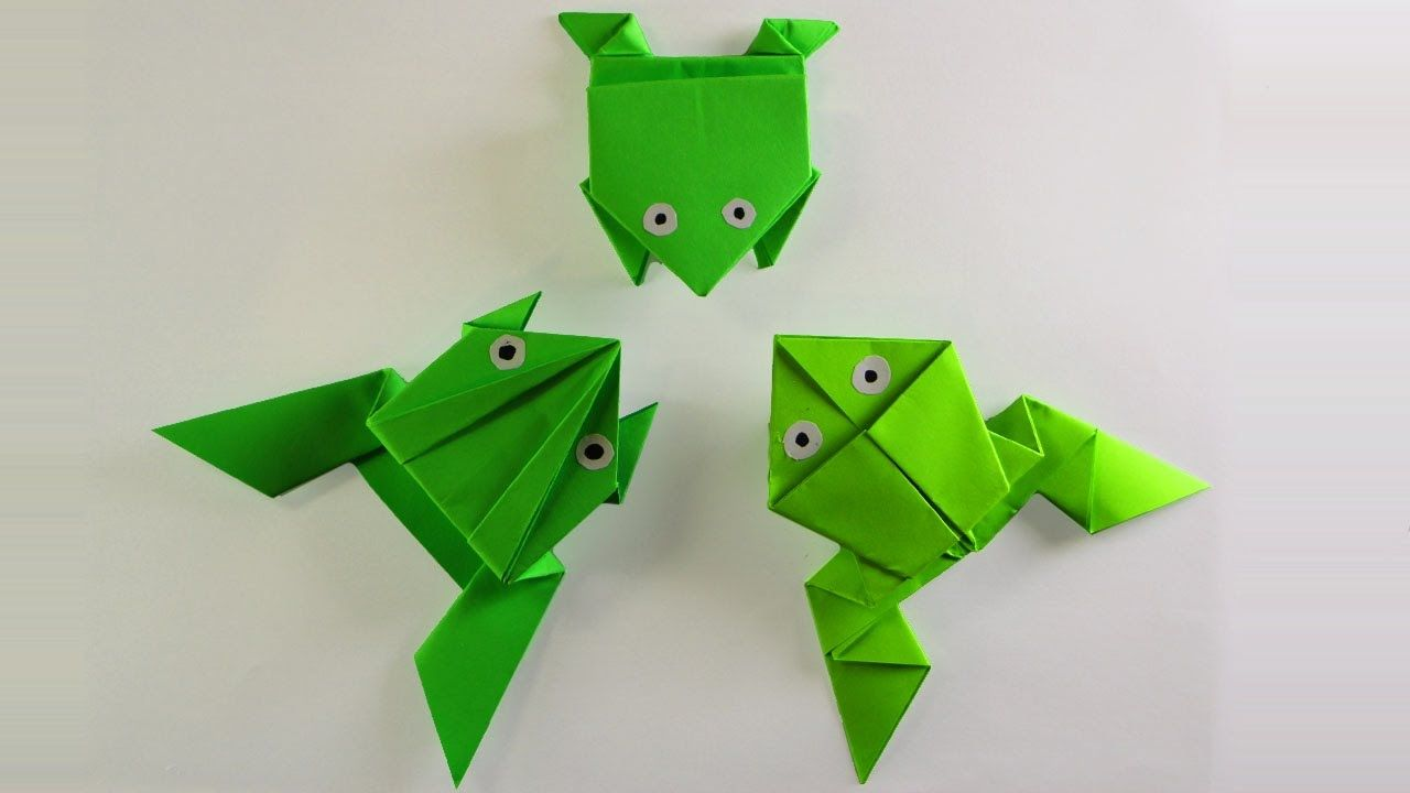 How to make a frog that jumps high and far wpinterest group u how to make a frog that jumps high and far origami frogscoutingeasy jeuxipadfo Images