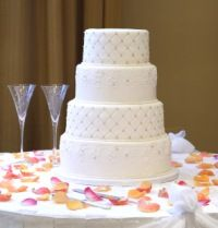 Wedding Cake Table Ideas flower and candle decor on wedding cake table Wedding Cake Table Ideas Before You Choose The Decorations On Your Cake Table It Will