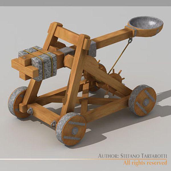 3d Catapult Model Оружие Pinterest 3d and Digital