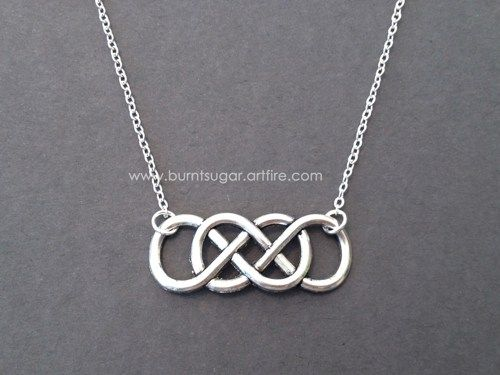 Double infinity necklace silver infinity pendant valentines jewelry double infinity necklace silver infinity pendant valentines jewelry burntsugar jewelry on artfire aloadofball Image collections