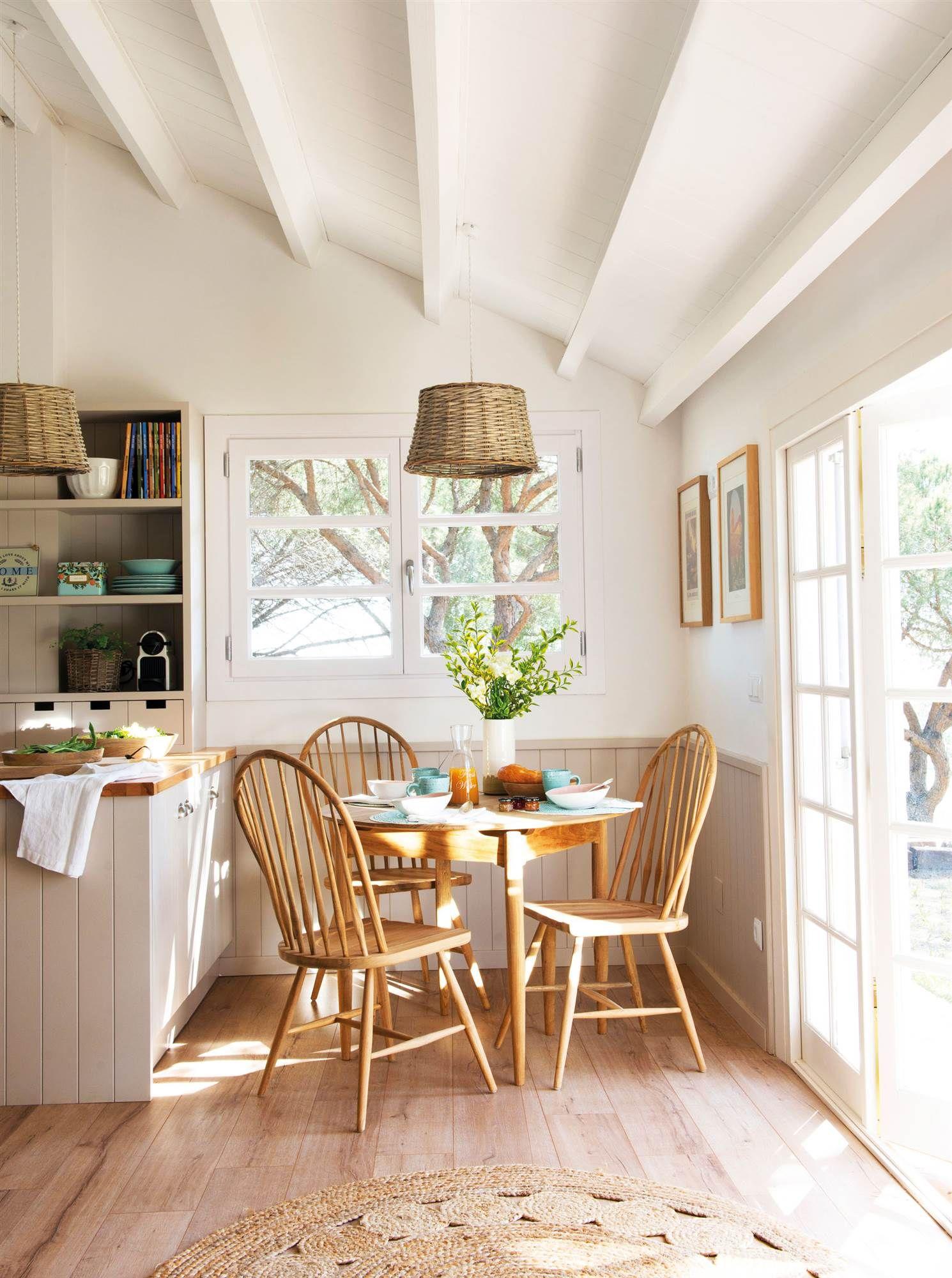 Con un office recogido en 2019 inspiraci n deco for Deco de cocina azul blanco