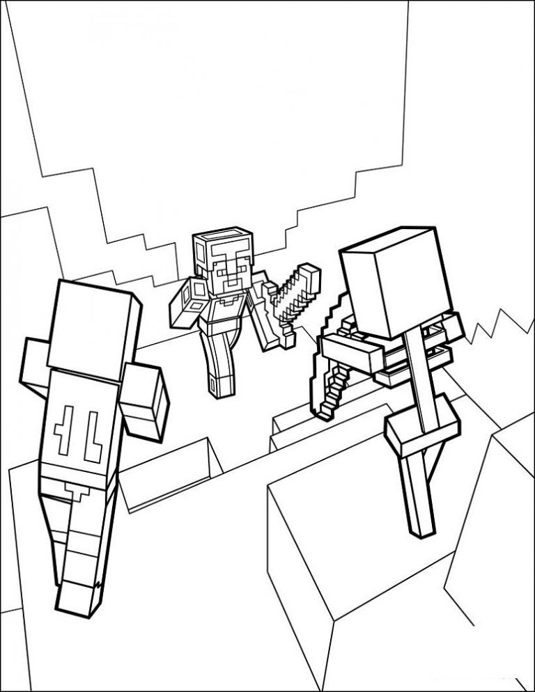 DANTDM Minecraft Coloring Pages Printable Shelter in