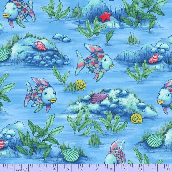 9749-0719, R11 The Rainbow Fish, Fabric Gallery, Marcus Fabrics
