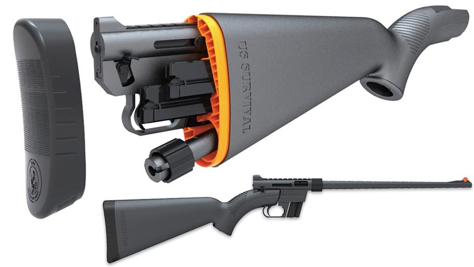 An entire rifle stored in it's waterproof stock!