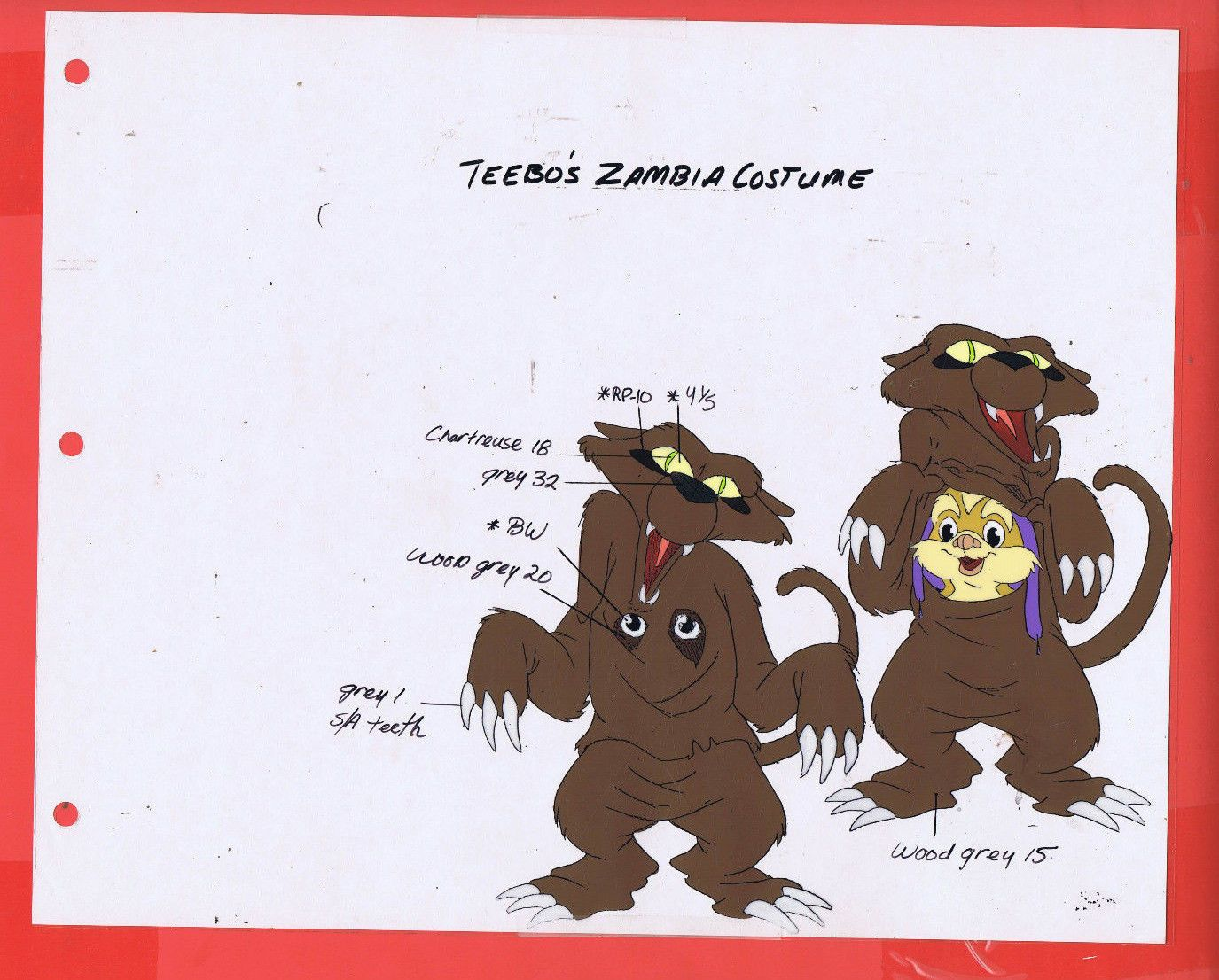 Details about star wars ewoks animation cel drawing