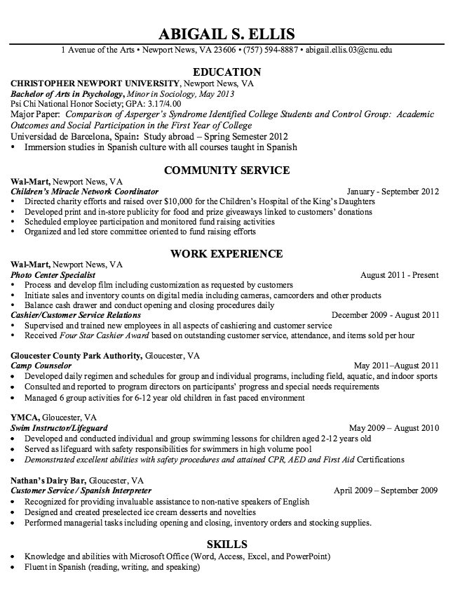 Photo Specialist Resume Sample Free Resume Sample Free Resume Samples Resume Template Examples Sample Resume Templates