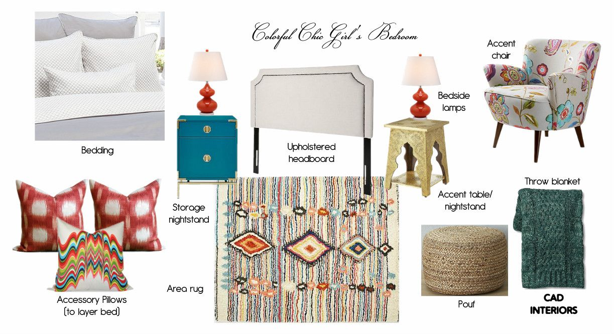 Zimmer im traditionellen stil cad interiors colorful chic girlus bedroom design with sources