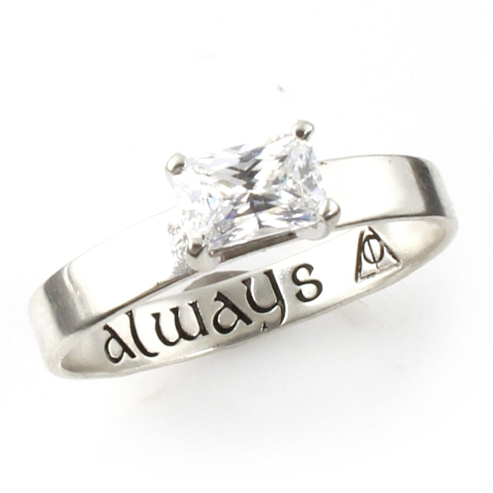 Harry potter always deathly hallows engagement ring