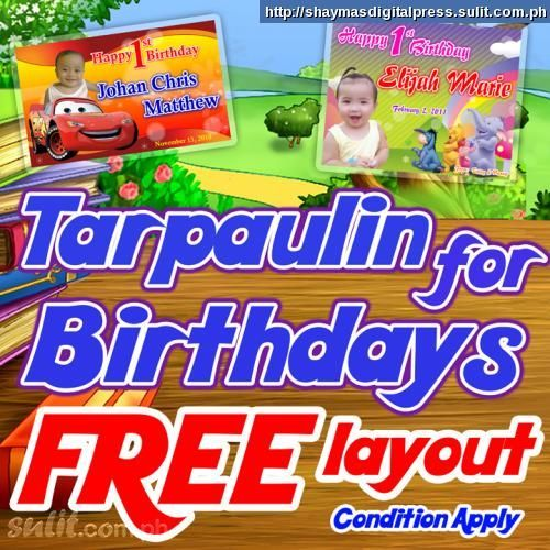 Free Layout For Your Birthday Tarpaulin This Advertisement Is