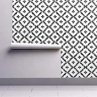 Amazon Com Sicohome Wallpaper Damask Gray Peel And Stick Wallpaper Home Amp Kitchen Peel And Stick Wallpaper Tv Wall Cabinets Damask