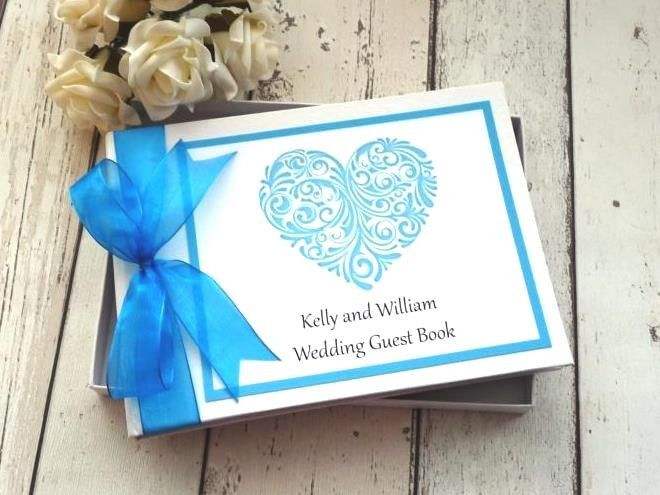 classic frame guest book personalised wedding heart