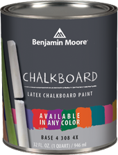 Benjamin Moore chalkboard paint - now available in any color!