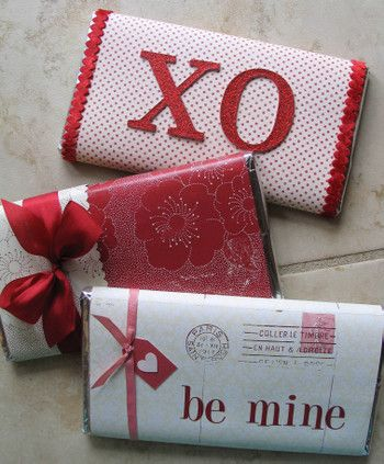 covers for Candy Bars as Valentines