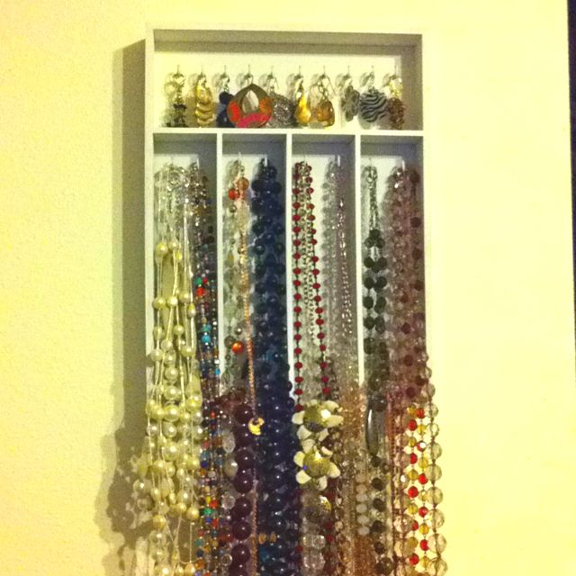 Homemade jewelry holderorganizerdisplay made with kitchen utensil