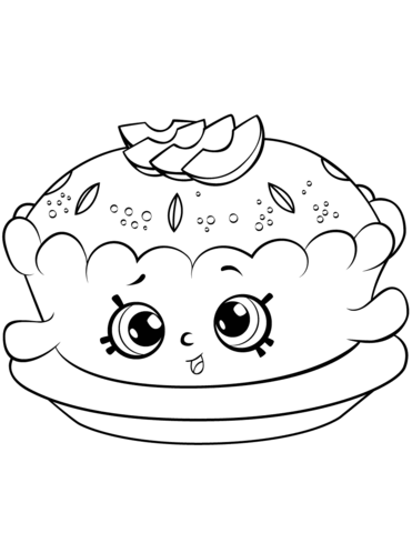 Apple Pie Shopkin Målarbok | Coloring pages (Printables ...
