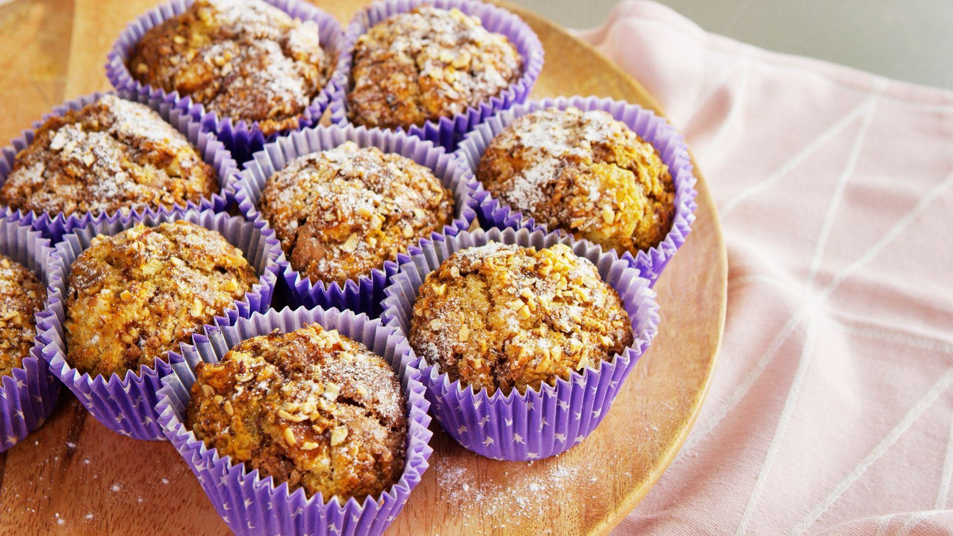 Muffins med speltmel og brunt sukker