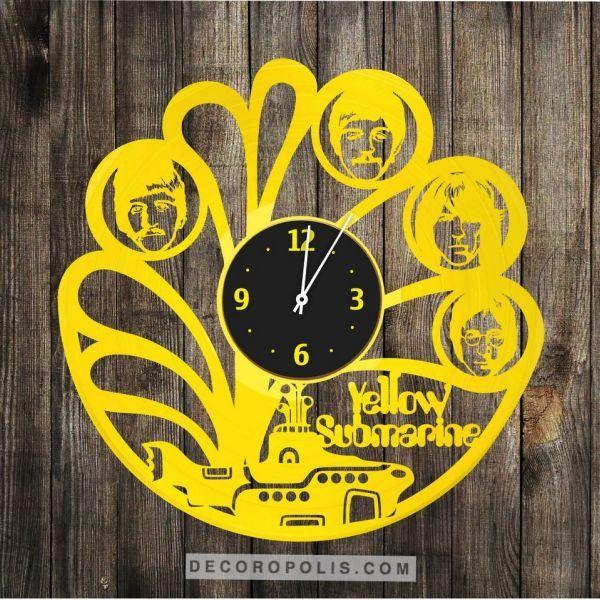 Yellow Submarine clock The Beatles wall decor | Album LP Art ...