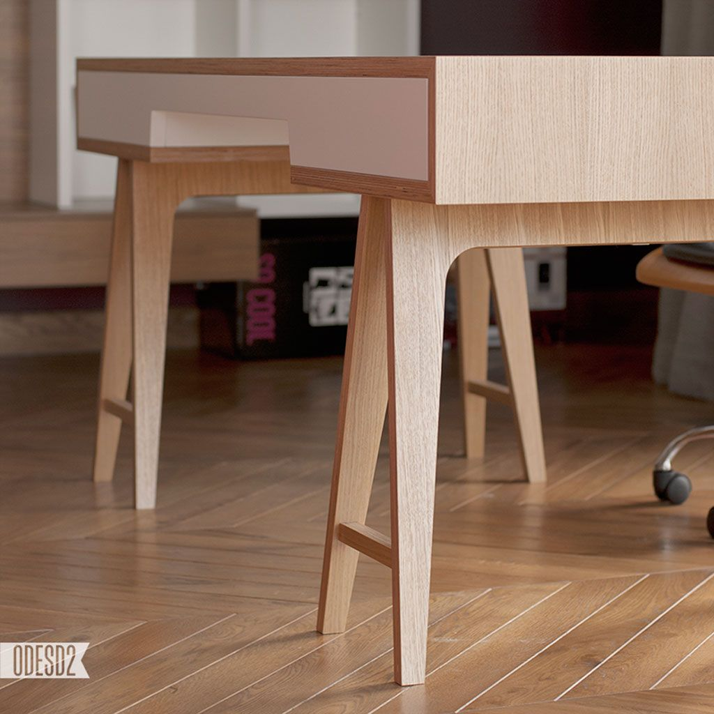 Minimalist Plywood T4 Desk 5