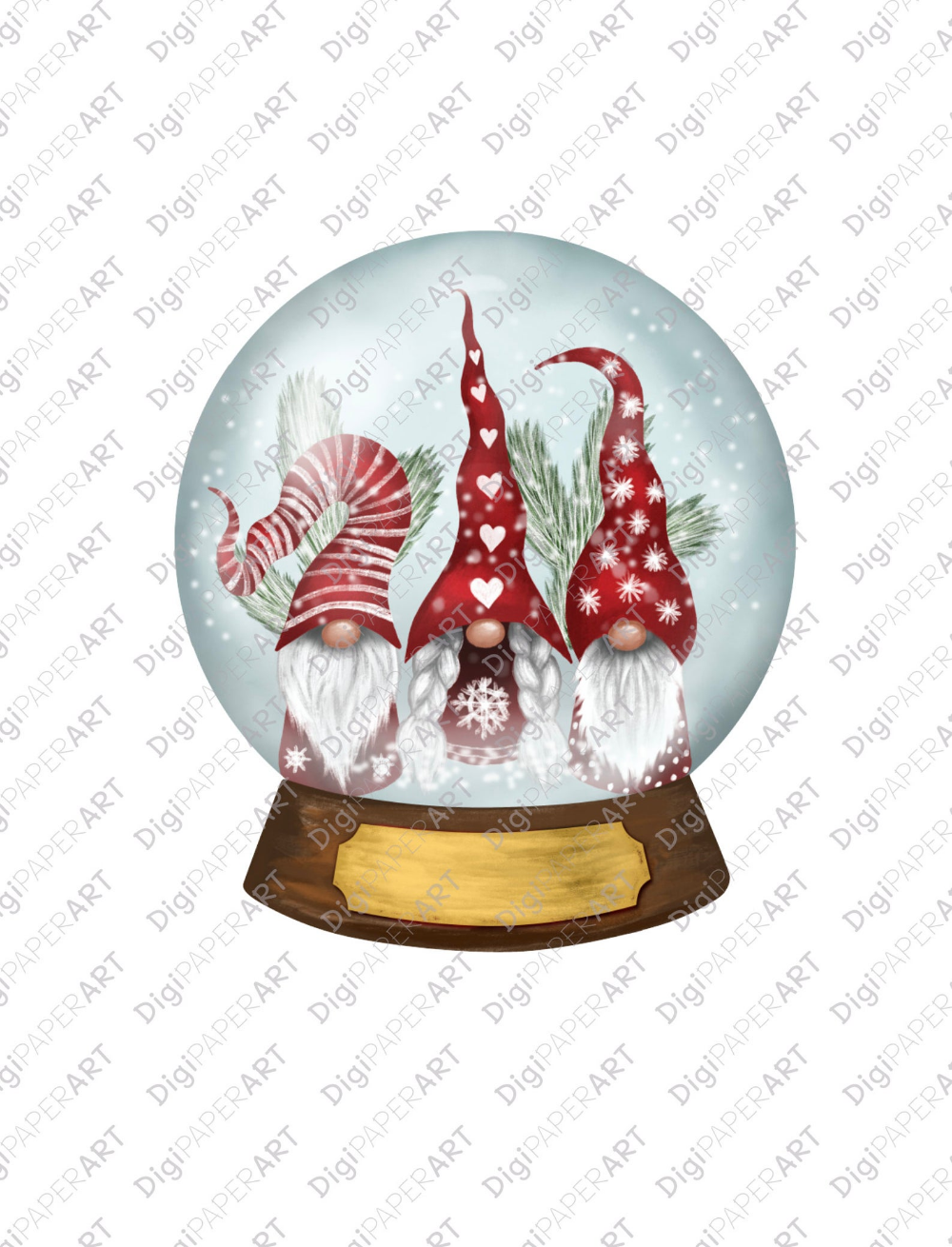 Gnome Snow Globe Png Clipart Watercolor Gnome Png Clipart Etsy Snow Globes Christmas Paintings Globe Ornament