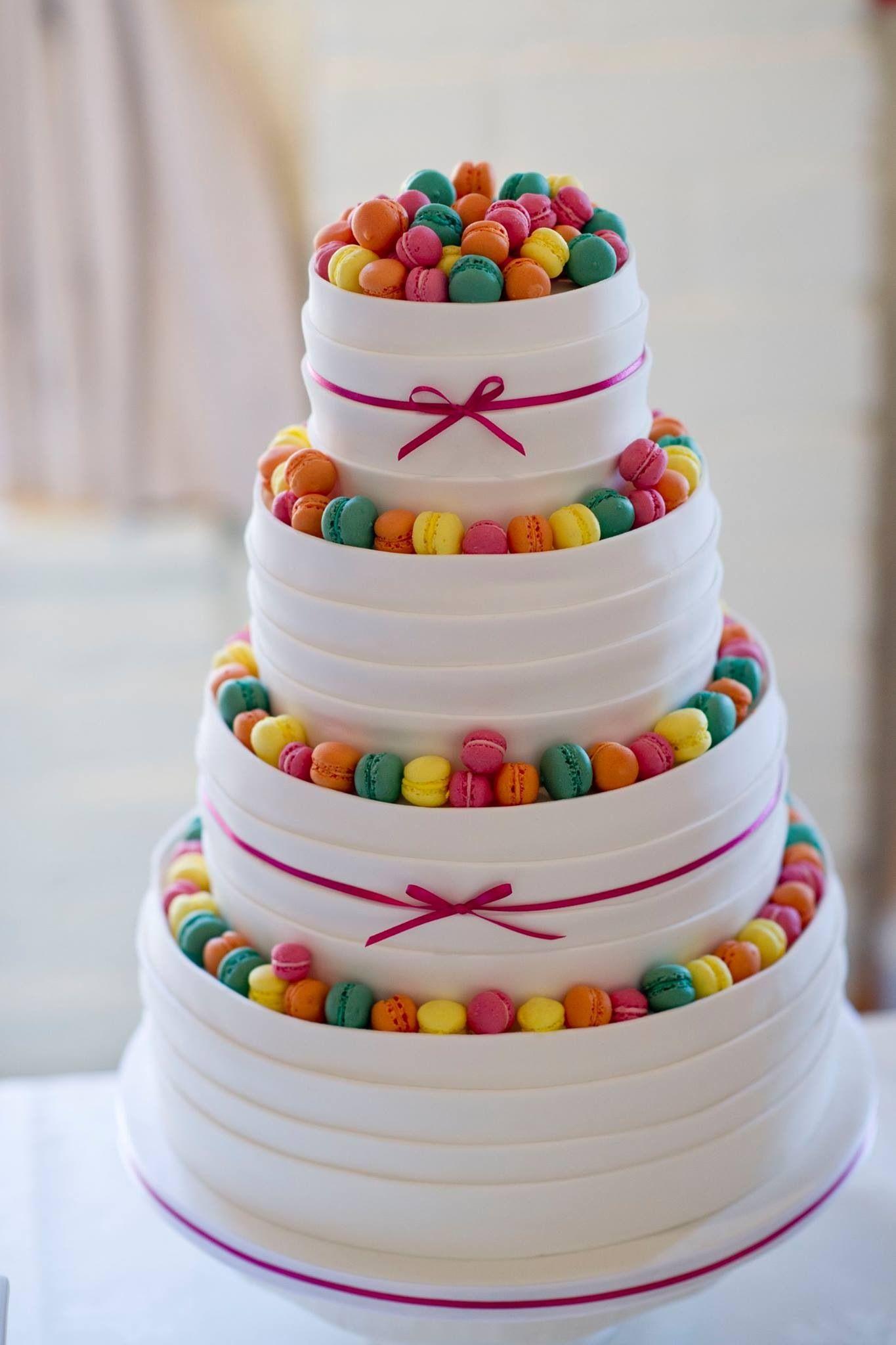 Mini macaron wedding cake - something a bit different and fun - Cakes by Karen