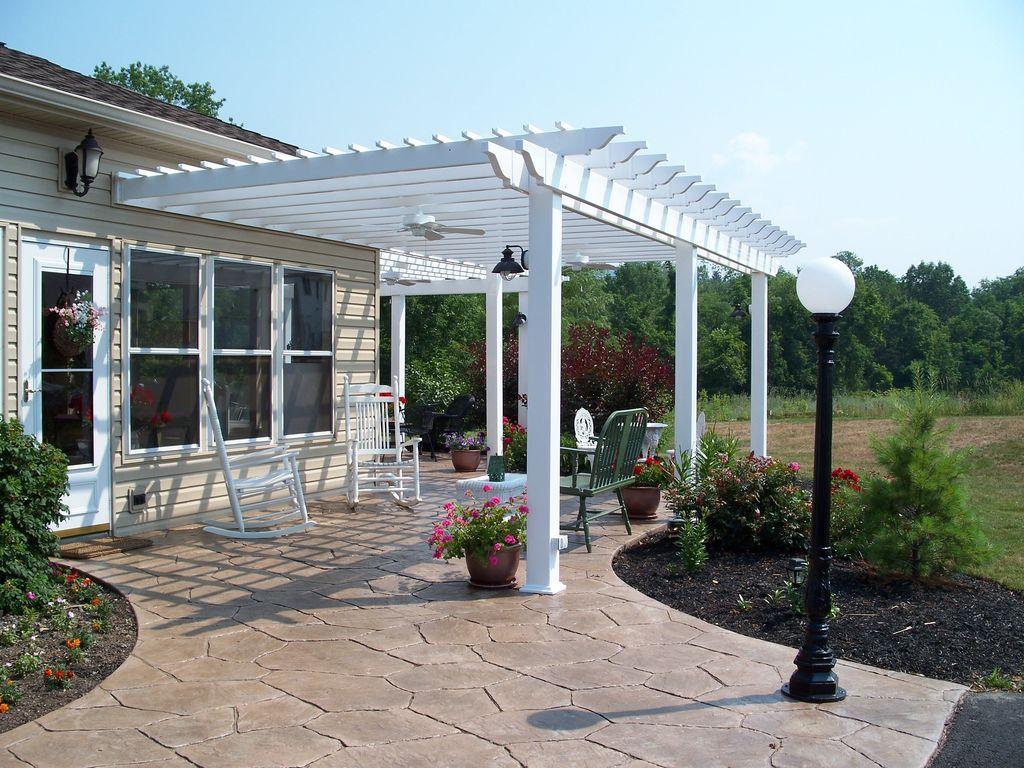 35 Inspiring Pergola Patio Design Ideas For Your Backyard Decor In 2020 Outdoor Pergola Concrete Patio Designs Pergola