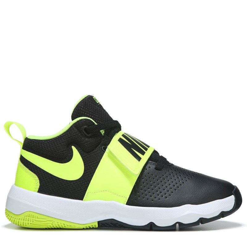 eb12eceedc1 Nike Kids  Team Hustle D8 Basketball Shoe Grade School Shoes (Black Volt) -  6.5 M