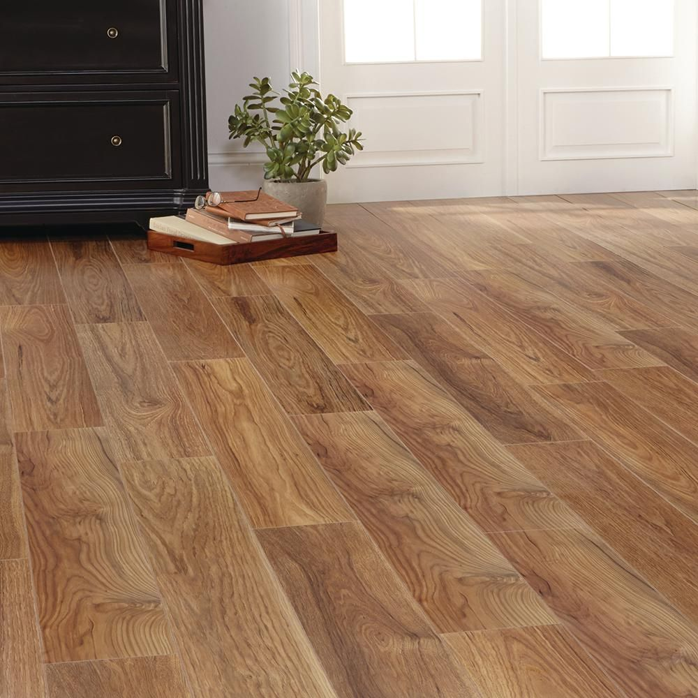 Home Decorators Collection Charleston Hickory 8 Mm Thick X 6 1 8 In Wide X 47 5 8 In Length