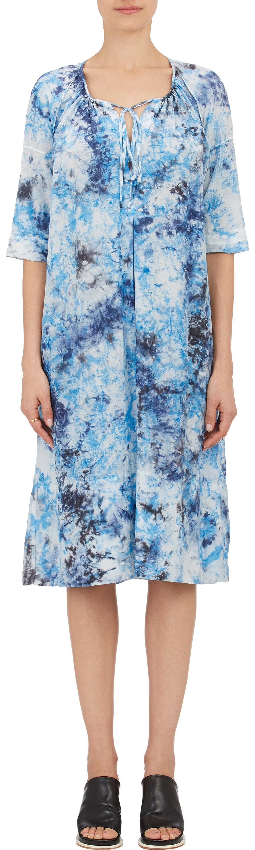 Raquel Allegra Woman Tie-dyed Crinkled-silk Dress Azure Size 2 Raquel Allegra Buy Cheap Pay With Visa PqeXJMpeEK