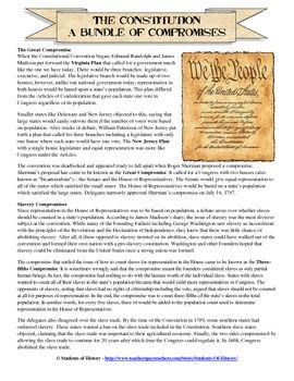 Compromises Of The Constitutional Convention With Images