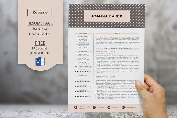Polkadots 2p resume cover letter by Inkpower on @Graphicsauthor