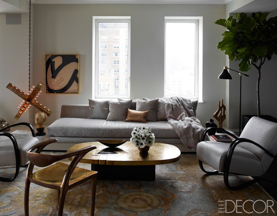 Best Ivanka Trump Apt By Kelly Behun Living Room Gray Copper Fur Silver Light Art By Downtown Fid 400 x 300