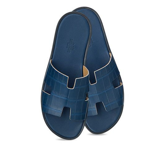 Izmir Sandal Blue Leather Sandals Leather Shoes Men Mens Dress