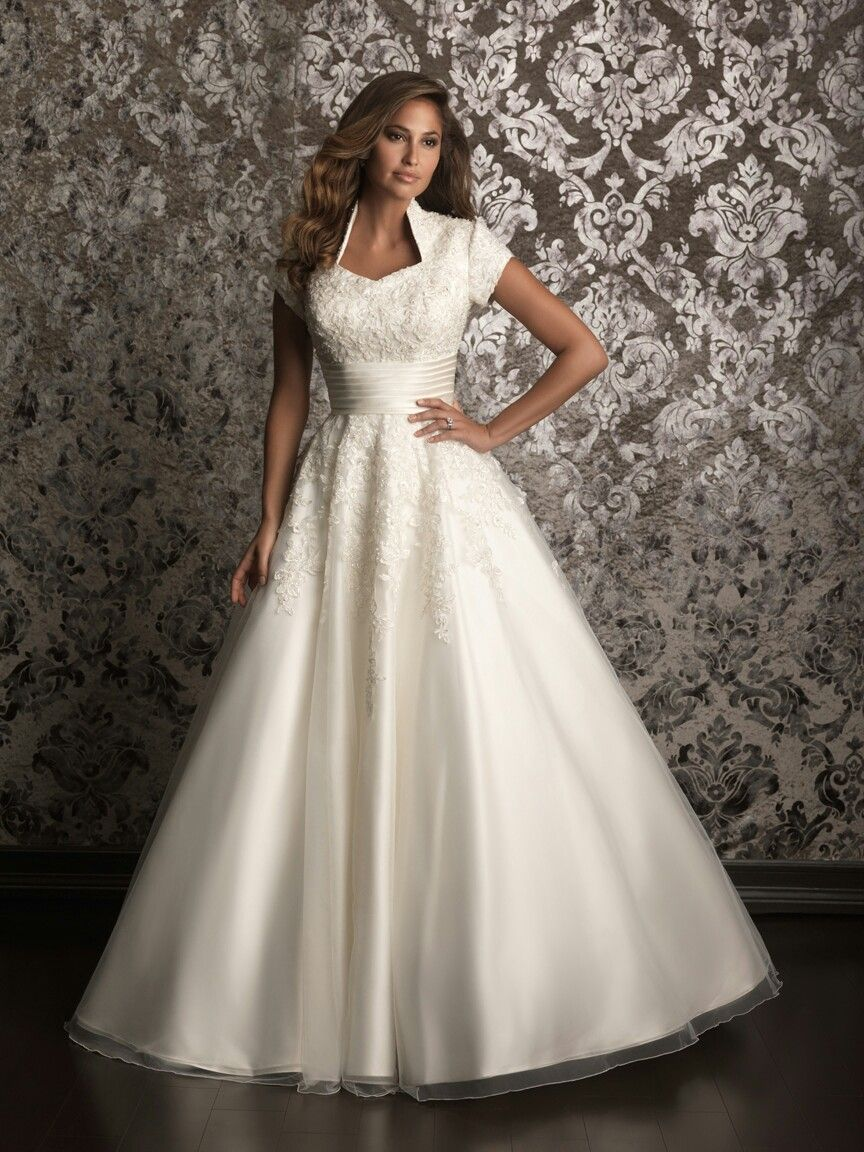 Interesting neckline maybe too stiff wedding dress styles